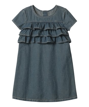 Vintage Light Chambray Ruffle Dress - Infant, Toddler & Girls