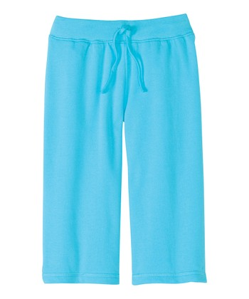 Blue Pool Play Date Capri Pants - Infant, Toddler & Girls