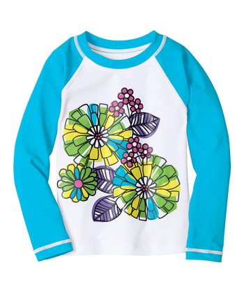 White Sun Ready Rashguard - Infant, Toddler & Girls