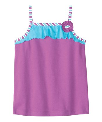 Painterly Purple Seeing Summer Tank - Infant, Toddler & Girls