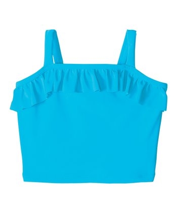 Bright Blue Pool Party Tankini Swim Top - Infant, Toddler & Girls