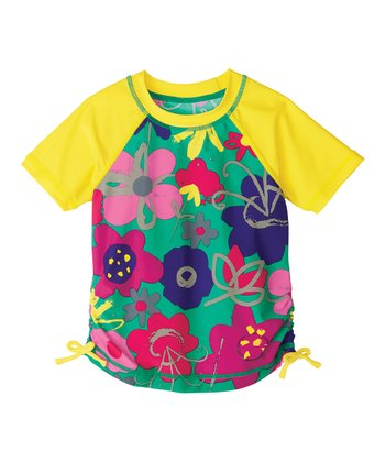 Mintie Ruched Rashguard - Infant, Toddler & Girls