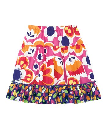 Bouquet Pink Flying By Skirt - Infant, Toddler & Girls