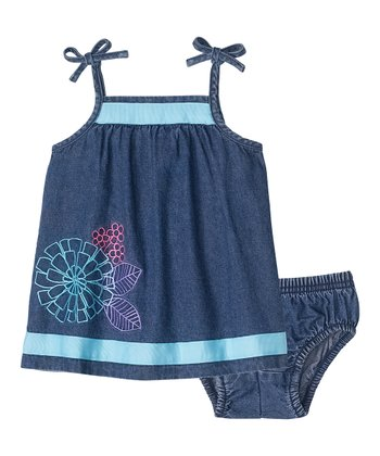 Chambray Swing Dress & Diaper Cover - Infant & Toddler
