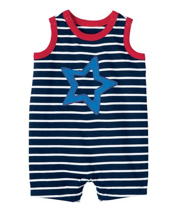 Navy & White Little Romper - Infant & Toddler