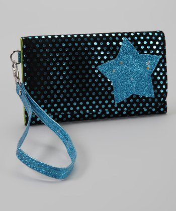 Black & Blue Foil Star Wallet