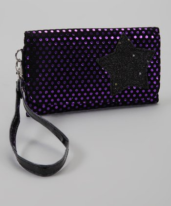 Black & Purple Foil Star Wallet