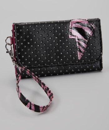 Black & Pink Lighting Bolt Wallet