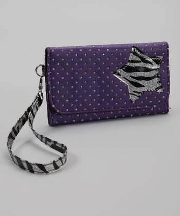 Purple & Black Star Wallet