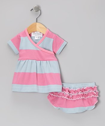 Pink Garden Tent Organic Dress & Diaper Cover - Infant