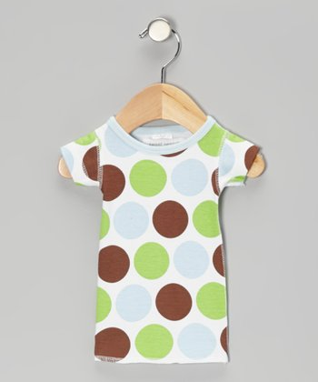 Baby Blue Safari Dot Organic Tee