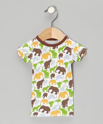 Brown Barrel of Elephants Organic Tee