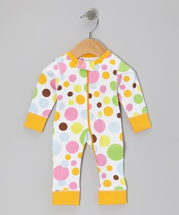 Orange Bubblegum Organic Playsuit - Infant