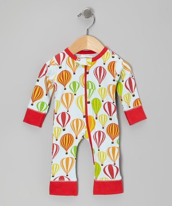 Red Balloon Safari Organic Playsuit