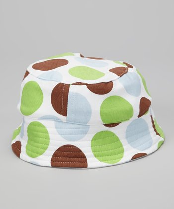 Baby Blue Safari Dot Organic Bucket Hat