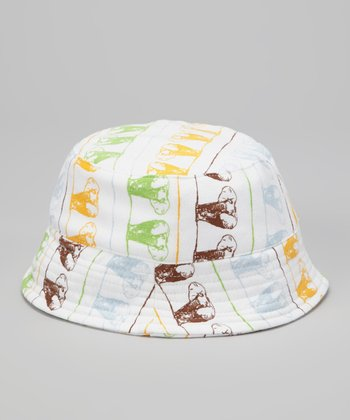 Baby Blue Elephants on Parade Organic Bucket Hat