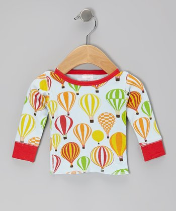 Red Balloon Safari Organic Long-Sleeve Tee