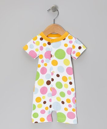 Orange Bubblegum Organic Romper
