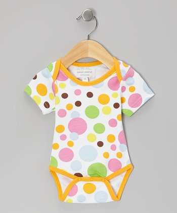 Orange Bubblegum Organic Bodysuit
