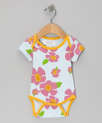 Orange Gentle Breeze Organic Bodysuit