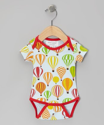 Red Balloon Safari Organic Bodysuit