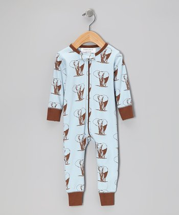 Brown Elephant Organic Playsuit - Infant