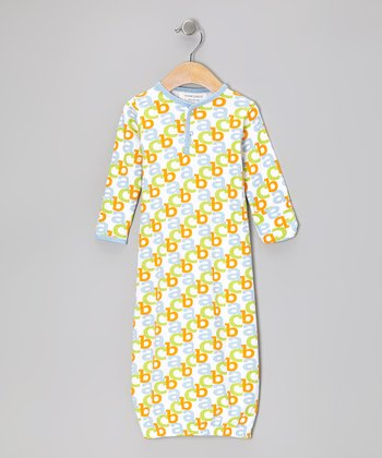Baby Blue 'ABC' Organic Gown - Infant