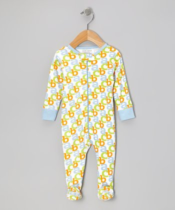 Baby Blue 'ABC' Organic Footie - Infant