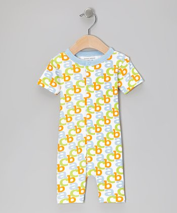 Baby Blue 'ABC' Organic Romper - Infant