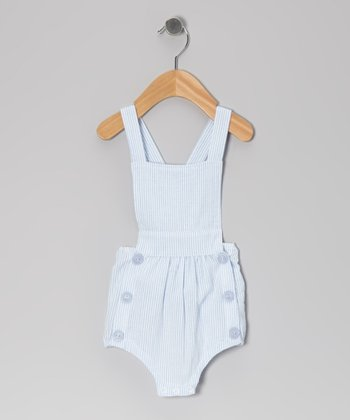 Blue Seersucker Bubble Bodysuit - Infant