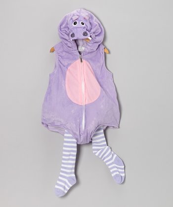 Purple Hippo Big Belly Dress-Up Set - Infant