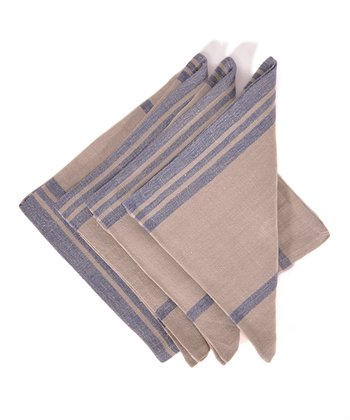 Blue & Natural Marseille Napkin - Set of Four