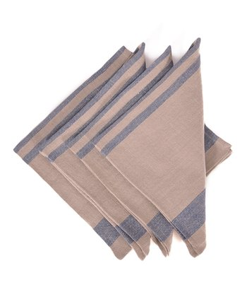 Blue & Natural Chambery Napkin -