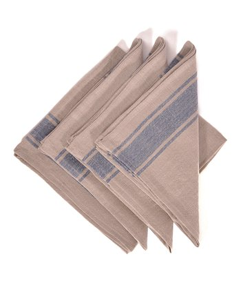 Blue & Natural Calais Napkin -
