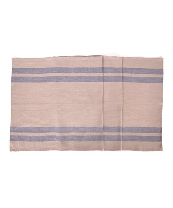 Blue & Natural Brive Table Runner