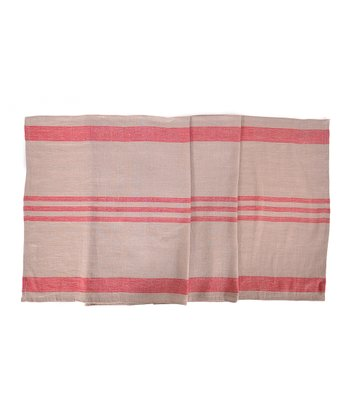 Red & Natural Brive Table Runner