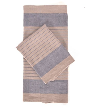 Blue & Natural Le Havre Kitchen Towel -