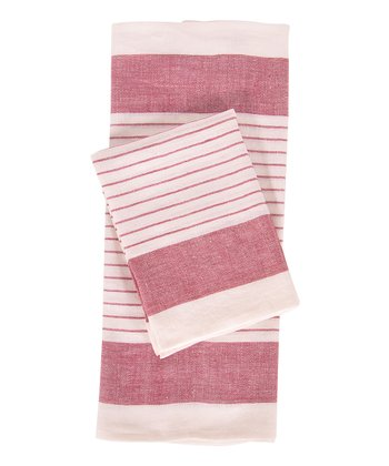 Red & White Le Havre Kitchen Towel -