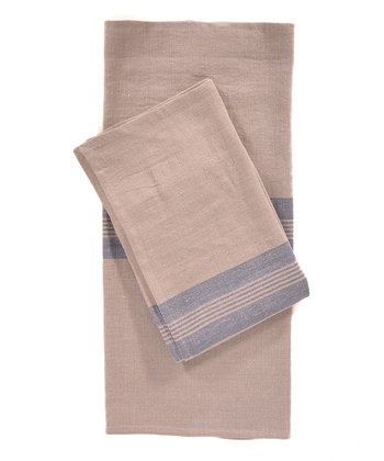 Blue & Natural Lorient Kitchen Towel -