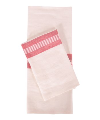 Red & White Lorient Kitchen Towel -