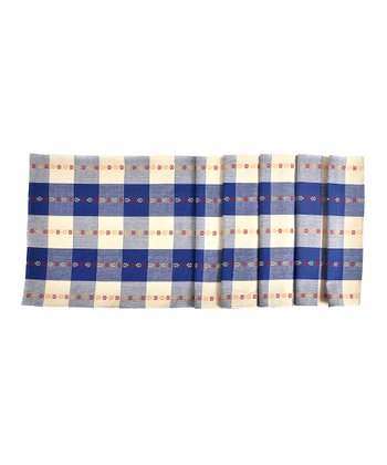 Blue Blocks Table Runner