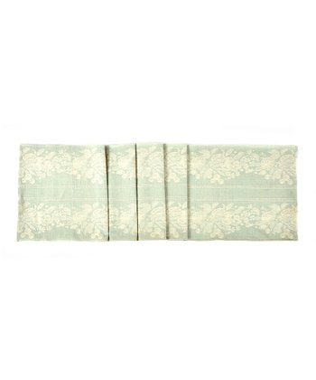 Green Floral Table Runner