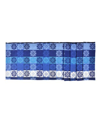 Blue Pop Flowers Table Runner