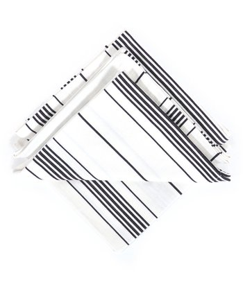 Black Ticking Napkin - Set of Four