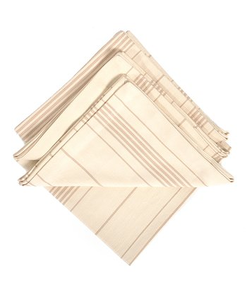 Taupe Ticking Napkin - Set of Four