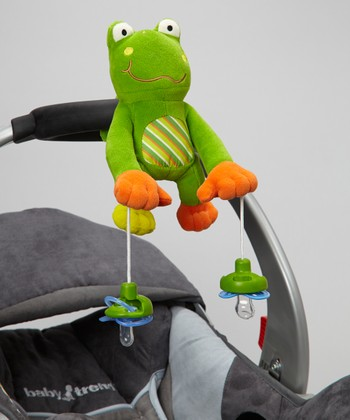 PullyPalz Puddles Frog Pacifier Holder