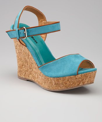 Teal IN-27 Wedge Sandal