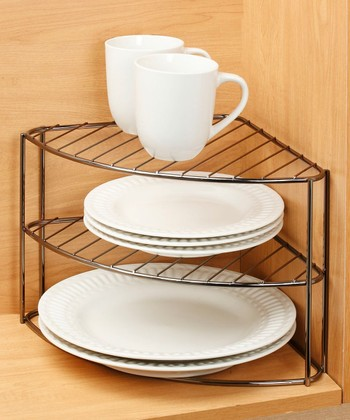 Three-Tier Plate Corner Organizer - Set of Two