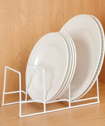 White Plate Organizer - Set of Two