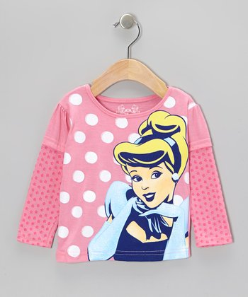 Pink Polka Dot Princess Layered Tee - Infant, Toddler & Girls